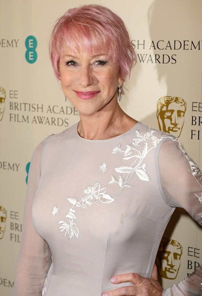 LONDON, ENGLAND - FEBRUARY 10:  Dame Helen Mirren attends The EE British Academy Film Awards 2013 at The Royal Opera House on February 10, 2013 in London, England.  (Photo by Dave J Hogan/Getty Images)