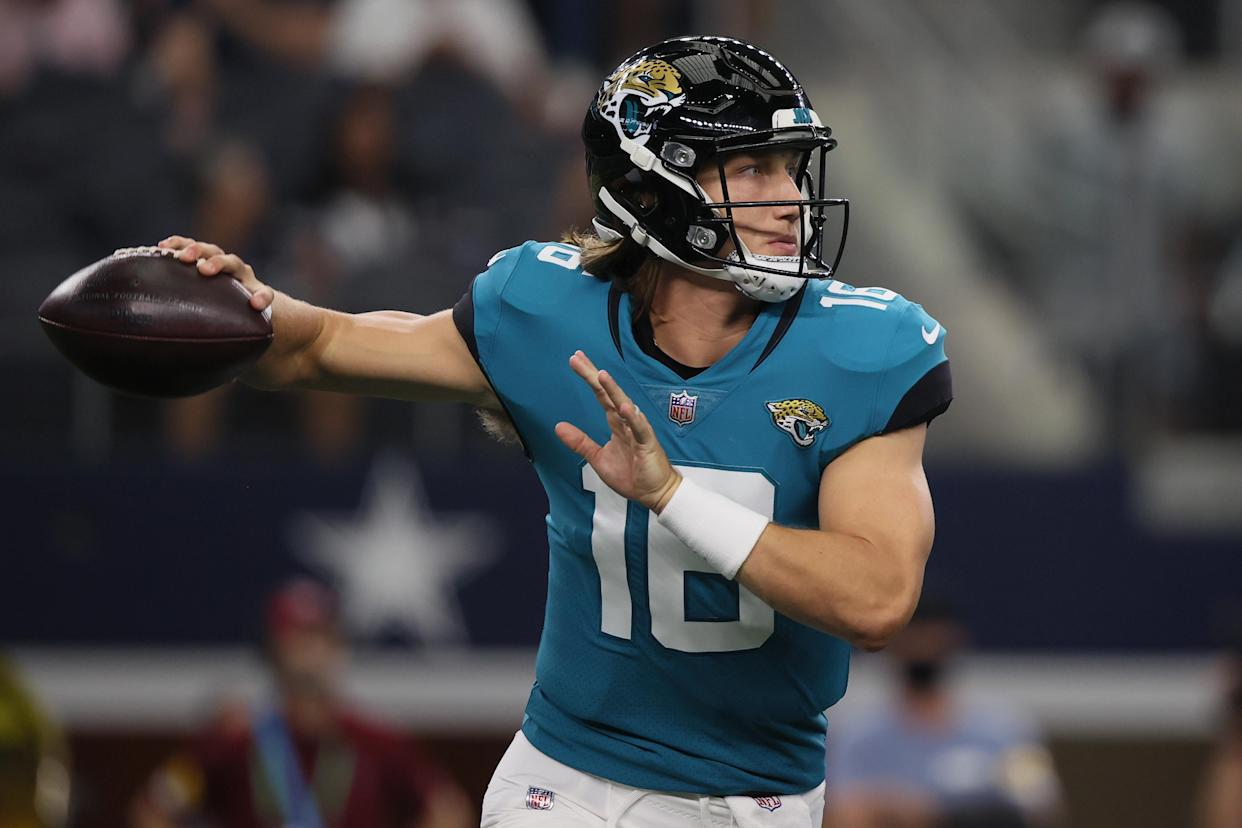 Quarterback Trevor Lawrence played well in Jacksonville's preseason finale. (Photo by Tom Pennington/Getty Images)