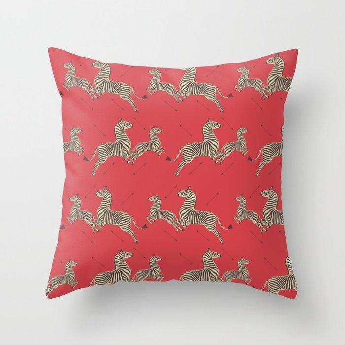"""All you need now is a petal pink rotary phone, some black eyeliner, and a side-parted blonde bob.<br><br><strong>Sydney Koffler</strong> Royal Tenenbaums Wallpaper Throw Pillow, $, available at <a href=""""https://go.skimresources.com/?id=30283X879131&url=https%3A%2F%2Fsociety6.com%2Fproduct%2Froyal-tenenbaums-wallpaper_pillow"""" rel=""""nofollow noopener"""" target=""""_blank"""" data-ylk=""""slk:Society6"""" class=""""link rapid-noclick-resp"""">Society6</a>"""