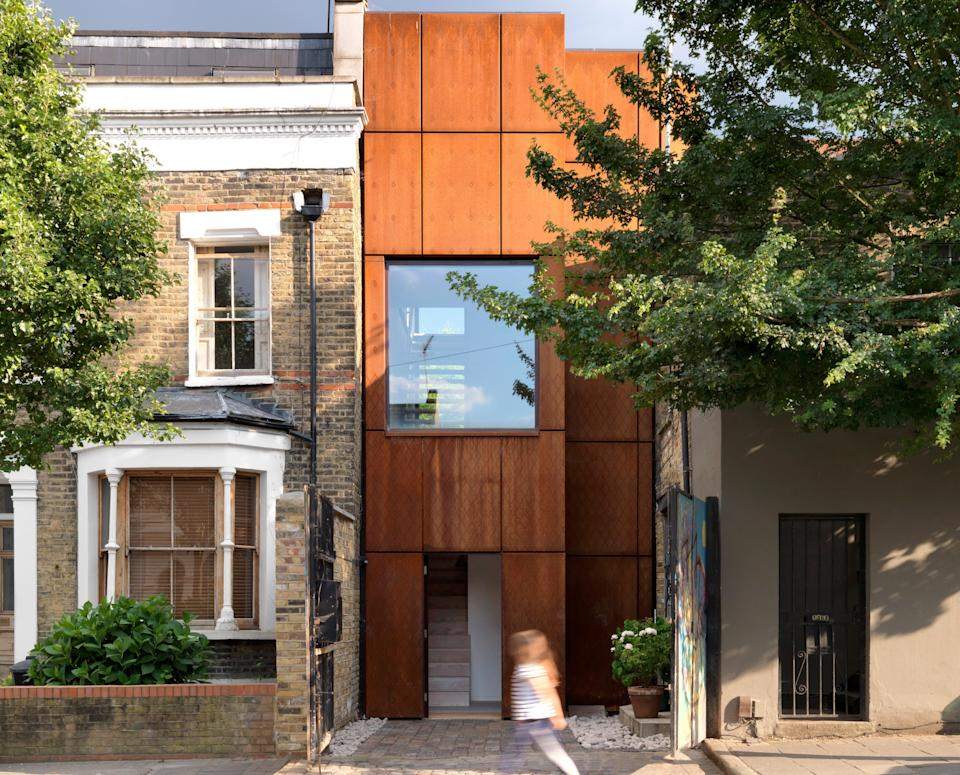 Eye-catching: this family home built by ZCD Architects in Clapton has a street frontage of only 11.5ft (Charles Hosea)
