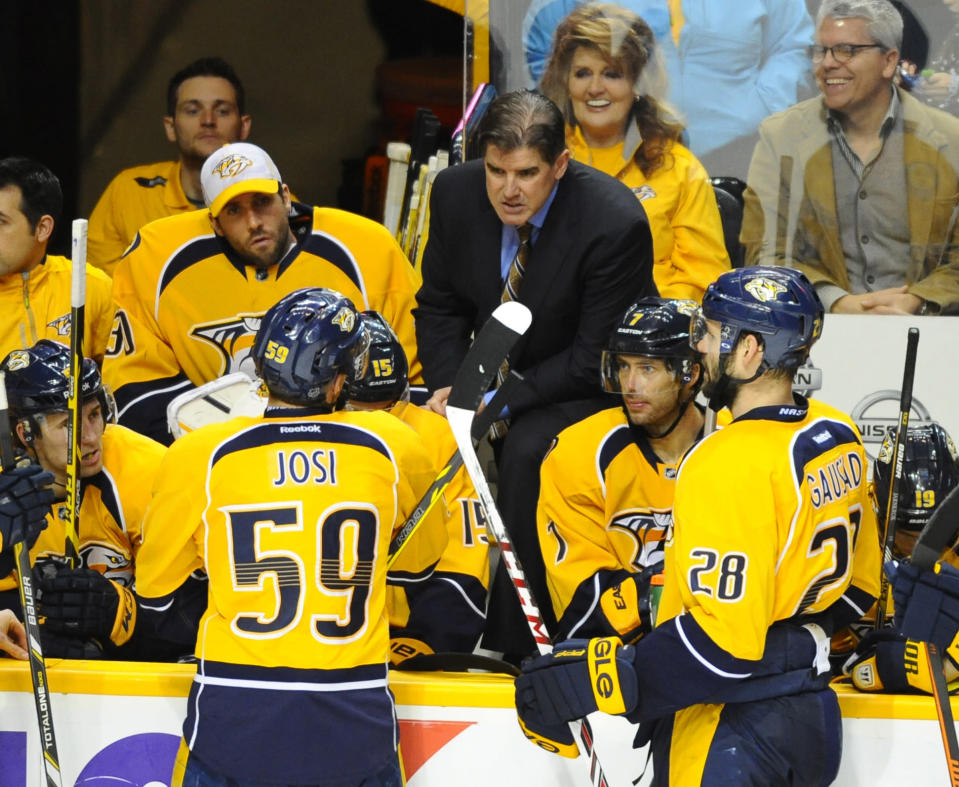Peter Laviolette keeps it 'pretty professional' as Nashville blasts Philly