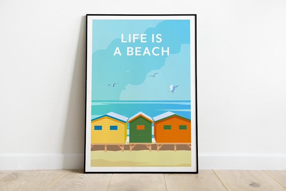 Life Is A Beach print (Photo: Etsy)
