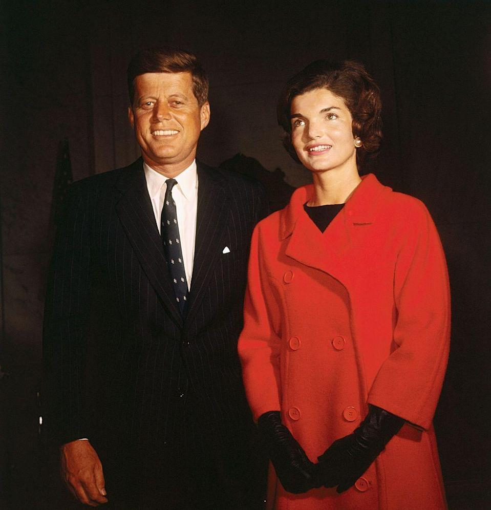 """<p> Jacqueline Kennedy <a href=""""https://ourwhitehouse.org/from-white-house-hostess-to-american-powerhouse/"""" rel=""""nofollow noopener"""" target=""""_blank"""" data-ylk=""""slk:reportedly disliked"""" class=""""link rapid-noclick-resp"""">reportedly disliked</a> the title of """"first lady,"""" because she found it demeaning and thought it sounded """"like a saddle horse."""" She asked the White House staff to call her """"Mrs. Kennedy"""" instead.</p>"""