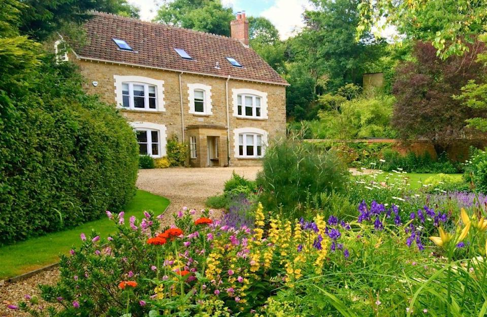"""<p>Looking to visit Dorset? This gorgeous farmhouse in Stoke Abbott is as quaint as can be. With room for 12 guests, it has been renovated to a high standard and provides luxury, spacious and practical accommodation. Perfect for a slow weekend this summer...</p><p><strong>Guests: </strong>Up to 12<br><strong>Pricing: </strong>From £1,166</p><p><a class=""""link rapid-noclick-resp"""" href=""""https://go.redirectingat.com?id=127X1599956&url=https%3A%2F%2Fwww.ruralretreats.co.uk%2Fengland%2Fdorset-holiday-cottages%2Fpuckhams_do052&sref=https%3A%2F%2Fwww.countryliving.com%2Fuk%2Ftravel-ideas%2Fstaycation-uk%2Fg35804522%2Fgroup-accommodation-holiday-homes-uk%2F"""" rel=""""nofollow noopener"""" target=""""_blank"""" data-ylk=""""slk:BOOK NOW"""">BOOK NOW</a></p>"""