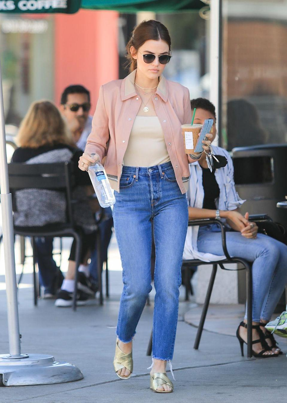 """<p>Stop what you're doing! If you don't already own a blush jacket, click out of this article and buy one ASAP, because with this chic topper, you'll never be underdressed. Pair it up with medium-wash denim and shades of gold to take your fit a little more on the dressy side. </p><p>What you'll need: <em>Padded</em><em> Bomber Jacket, $35, H&M</em></p><p><a class=""""link rapid-noclick-resp"""" href=""""https://go.redirectingat.com?id=74968X1596630&url=https%3A%2F%2Fwww2.hm.com%2Fen_us%2Fproductpage.0868038002.html&sref=https%3A%2F%2Fwww.seventeen.com%2Ffashion%2Fstyle-advice%2Fg25727522%2Fcasual-outfits%2F"""" rel=""""nofollow noopener"""" target=""""_blank"""" data-ylk=""""slk:SHOP HERE"""">SHOP HERE</a></p>"""