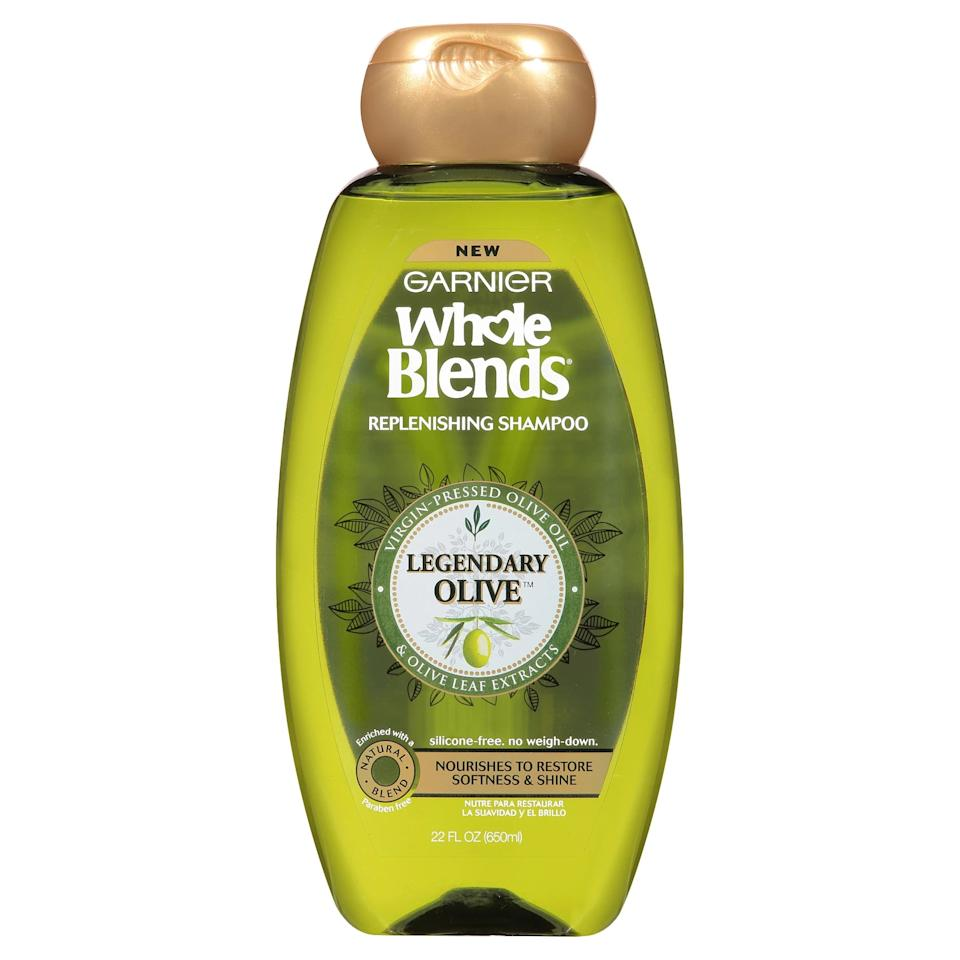 "<p><a href=""https://www.popsugar.com/buy/Garnier-Whole-Blends-Legendary-Olive-Replenishing-Shampoo-560129?p_name=Garnier%20Whole%20Blends%20Legendary%20Olive%20Replenishing%20Shampoo&retailer=target.com&pid=560129&price=6&evar1=bella%3Auk&evar9=47340598&evar98=https%3A%2F%2Fwww.popsugar.com%2Fbeauty%2Fphoto-gallery%2F47340598%2Fimage%2F47340605%2FGarnier-Whole-Blends-Legendary-Olive-Replenishing-Shampoo&list1=hair%2Chair%20products%2Cgarnier%2Cbeauty%20shopping%2Cnatural%20hair&prop13=api&pdata=1"" rel=""nofollow"" data-shoppable-link=""1"" target=""_blank"" class=""ga-track"" data-ga-category=""Related"" data-ga-label=""https://www.target.com/p/garnier-whole-blends-legendary-olive-replenishing-shampoo-22-fl-oz/-/A-52244876"" data-ga-action=""In-Line Links"">Garnier Whole Blends Legendary Olive Replenishing Shampoo</a> ($6) is a weightless shampoo that replenishes moisture while cleansing the hair of product buildup.</p>"