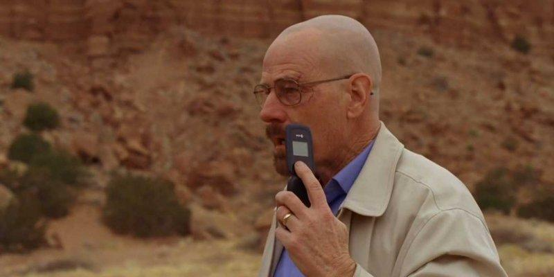 walt breaking bad shock phone