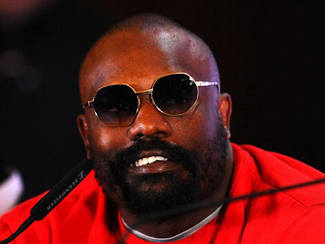 Dereck Chisora speaks to the media: Getty Images