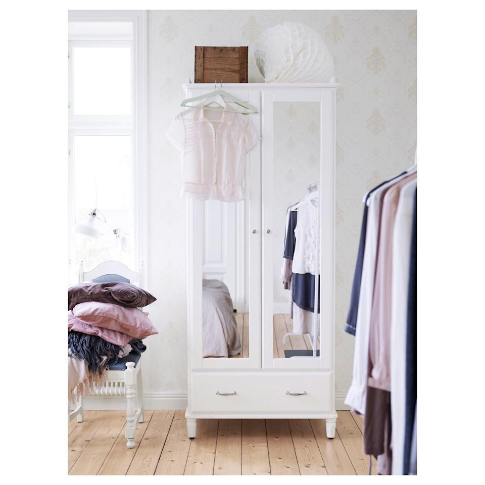 <p>The <span>Tyssedal Wardrobe's</span> ($399) built-in mirror makes all of the difference in your morning routine.</p>