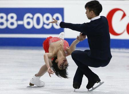 Figure Skating - ISU World Championships 2017 - Pairs Free Skating - Helsinki, Finland - 30/3/17 - Sui Wenjing and Han Cong of China compete. REUTERS/Grigory Dukor