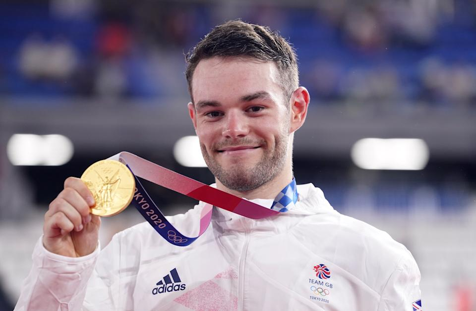 Matt Walls with his gold medal on Thursday. (PA)
