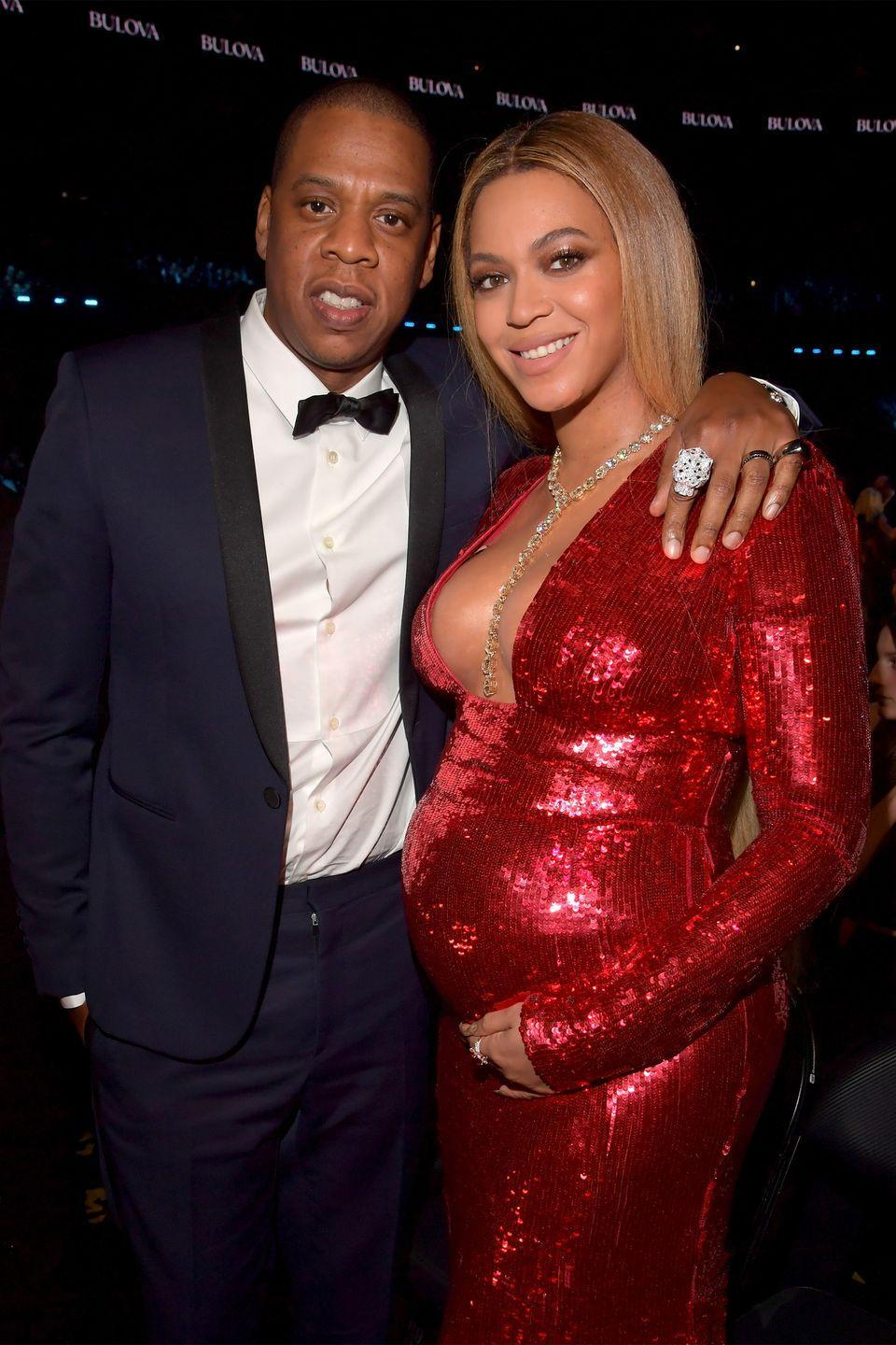 "<p>The rap mogul and his triple-threat wife have 45 Grammy wins between them, and are still ruling the music industry nearly two decades into their careers. The power couple even managed to <a href=""https://www.harpersbazaar.com/culture/art-books-music/a21726662/beyonce-jay-z-everything-is-love-album-review/"" rel=""nofollow noopener"" target=""_blank"" data-ylk=""slk:shut down the Louvre"" class=""link rapid-noclick-resp"">shut down the Louvre</a> for their ""Apeshit"" music video.</p><p>Bey and Jay were married in a <a href=""https://people.com/music/beyonce-jayz-wedding-anniversary-photo-tina-knowles/"" rel=""nofollow noopener"" target=""_blank"" data-ylk=""slk:secret wedding"" class=""link rapid-noclick-resp"">secret wedding</a> in 2008, and gave birth to daughter Blue Ivy in 2012. In 2017, Beyoncé <a href=""https://www.harpersbazaar.com/culture/news/a20368/beyonce-pregnancy-photo-symbolism-decoded/"" rel=""nofollow noopener"" target=""_blank"" data-ylk=""slk:broke the internet"" class=""link rapid-noclick-resp"">broke the internet</a> when she announced she was pregnant with twins, Rumi and Sir, who <a href=""https://www.harpersbazaar.com/celebrity/latest/a10042051/beyonce-twins-first-photo/"" rel=""nofollow noopener"" target=""_blank"" data-ylk=""slk:were born"" class=""link rapid-noclick-resp"">were born</a> in June of that year. <br></p>"