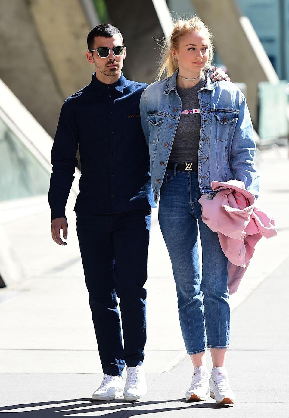 <p>The couple are seen strolling around NYC's Soho arm in arm. </p>