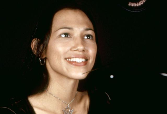 Irene Bedard in the recording booth for <em>Pocahontas</em> in 1995. (Photo: Buena Vista Pictures/courtesy Everett Collection)