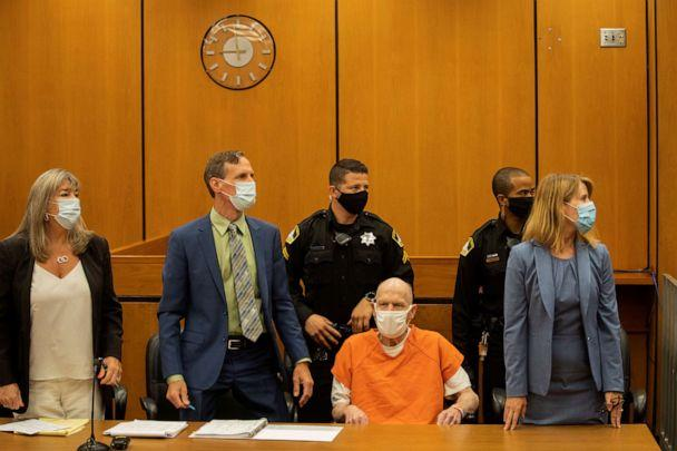 PHOTO: Joseph James DeAngelo, known as the Golden State Killer, looks on during the first day of victim impact statements at the Gordon D. Schaber Sacramento County Courthouse in Sacramento, Calif., Aug. 18, 2020. (Santiago Mejia/Pool via Reuters)