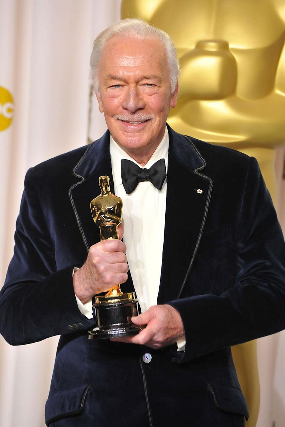 """<p>In 2009, Plummer finally received an Oscar nomination for <i>The Last Station</i>, and he <a href=""""http://www.peoplestylewatch.com/people/stylewatch/package/article/0,,20552373_20573873,00.html"""" rel=""""nofollow noopener"""" target=""""_blank"""" data-ylk=""""slk:took home the Oscar for Best Supporting Actor"""" class=""""link rapid-noclick-resp"""">took home the Oscar for Best Supporting Actor</a> in 2012 for his role in <i>Beginners</i>, in which he played an ailing elderly man who reveals that he's gay to his son. """"You're only two years older than me darling,"""" he jokingly said to his statuette upon accepting the Academy Award at the time. """"Where have you been all my life?"""" </p> <p>He was later nominated again for Best Supporting Actor at the 2018 Oscars for his performance in Ridley Scott's <i>All the Money in the World</i>.</p>"""