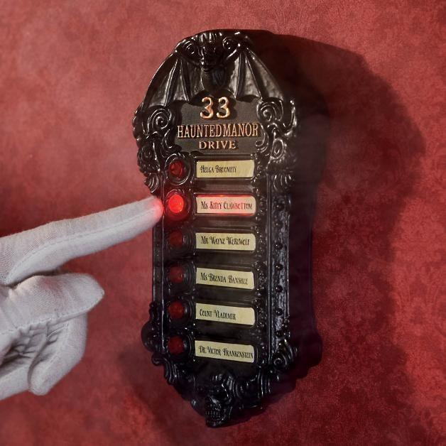 <p>The <span>Haunted Hotel Doorbell</span> ($30) will transport you to a spooky getaway. </p>