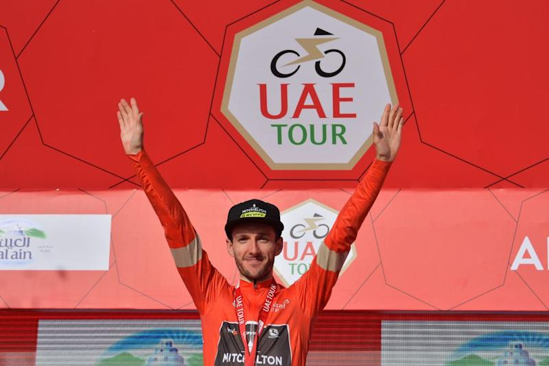 Adam Yates (Mitchelton-Scott) is crowned the overall winner at the shortened 2020 UAE Tour