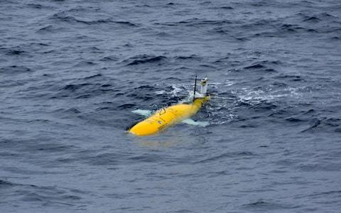 "The autonomous submarine vehicle Autosub Long Range (better known as ""Boaty McBoatface"") on its first mission to study temperatures at the bottom of the Southern Ocean - Credit: Povl Abrahamsen /BAS /SWNS.COM"