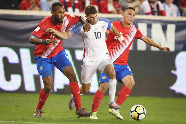 "<a class=""link rapid-noclick-resp"" href=""/soccer/players/christian-pulisic/"" data-ylk=""slk:Christian Pulisic"">Christian Pulisic</a> and the United States could be seeing more of Costa Rica in the new CONCACAF Nations League. (Getty)"