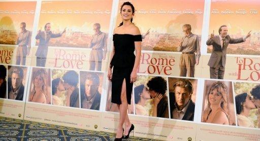 "Spanish actress Penelope Cruz poses during a photocall for the film ""To Rome With Love"" at a hotel in Rome. ""To Rome With Love"" is made up of four vignettes and producers characterised it as ""a carefree comedy, a kaleidoscopic film."""