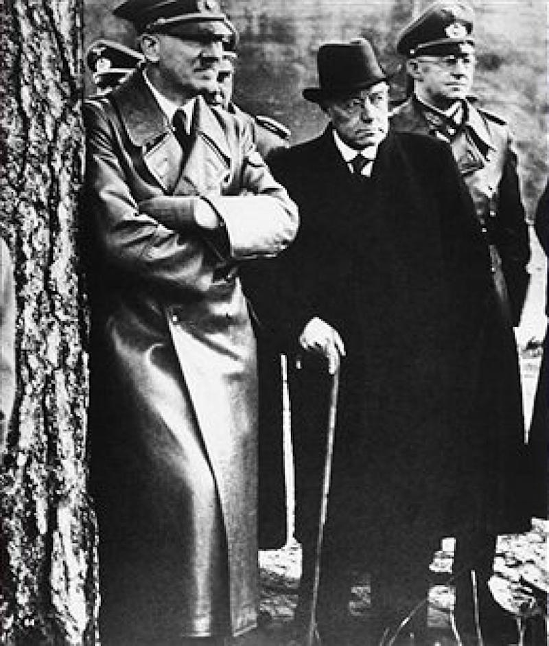 UNITED KINGDOM - CIRCA 1935: Adolf Hitler photographed with Hermann Roechling and other Nazi leaders - Date of Photo: 1940 ca. (Photo by Unidentified Author/Alinari via Getty Images)
