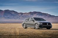 """<p>The other VW with a stick is the Golf's be-trunked counterpart, the Jetta. Most are sold with the eight-speed automatic, but you can get the base S model with a six-speed manual. You can also get the stick on any version of the performance-oriented <a href=""""https://www.caranddriver.com/volkswagen/jetta-gli"""" rel=""""nofollow noopener"""" target=""""_blank"""" data-ylk=""""slk:Jetta GLI"""" class=""""link rapid-noclick-resp"""">Jetta GLI</a>, which is basically a sedan version of the Golf GTI. Both made our 10Best list again this year. <br></p>"""