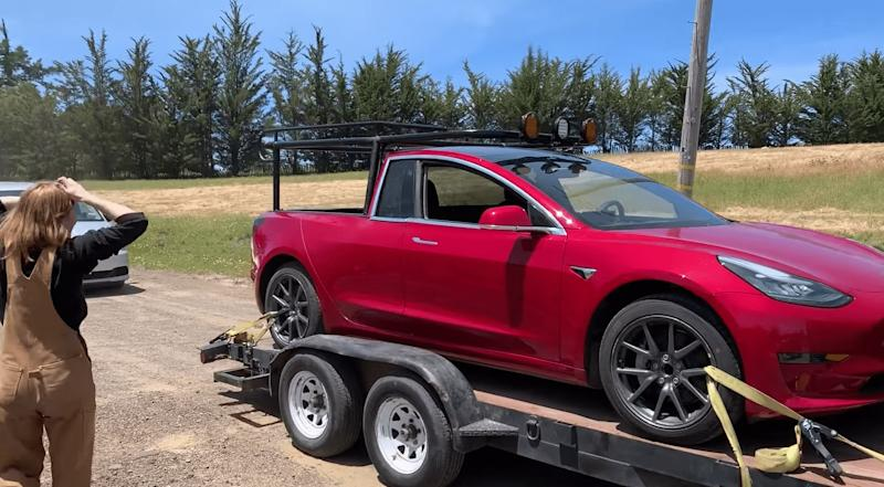 La Tesla Model 3 version pick-up — Truckla