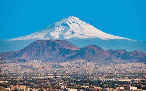 Popocatépetl as seen from Mexico City - Credit: istock