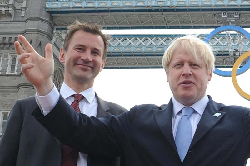 Jeremy Hunt and Boris Johnson will go head to head in the race for Number 10 (PA)