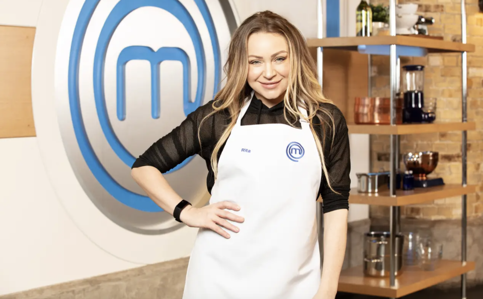 Former EastEnders star Rita Simons is competing in Celebrity MasterChef. (BBC)