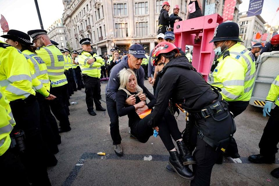 Protesters blocked Oxford Cirus  (AFP via Getty Images)