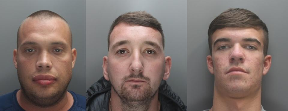 Shawn O'Malley and David Scurfield, both 32, and Billy McColl, 20, were jailed at Liverpool Crown Court .(Merseyside Police)