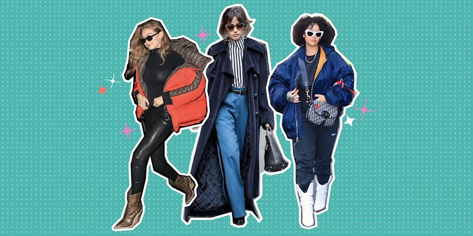 <p>Raise your hand if your cute winter outfit has ever felt personally victimized by sub-zero winter temps. 🙋🙋🙋 Same girl, same. But your bulky parka doesn't have to ruin a perfectly grammable outfit. If you style it right, that winter coat will become your new favorite outfit addition – and not <em>just </em>because it keeps you warm. </p><p>But how exactly do you wear the necessary winter layers so that they add to your ensemble, instead of taking away from it? Well, the secret is all in the rest of your look. Color coordination, balancing volume, and smart use of textures (think: leather, faux fur, and suede) are just some of the genius winter fashion tricks used by your favorite celebs to totally nail cold weather street style. </p><p>Want to see for yourself? Click ahead for the coolest ways to wear cozy gear and still look mad cute.</p>