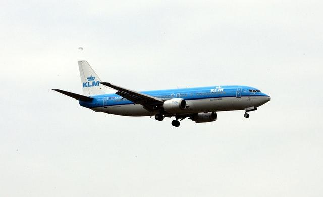 A KLM Boeing 737 plane lands at Heathrow Airport (Steve Parsons/PA)