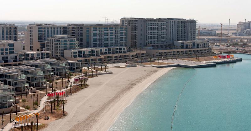 Residential properties are seen beside a private beach at Al Zeina, part of the Al Raha beach development in Abu Dhabi, United Arab Emirates, on Tuesday, Jan. 10, 2012.