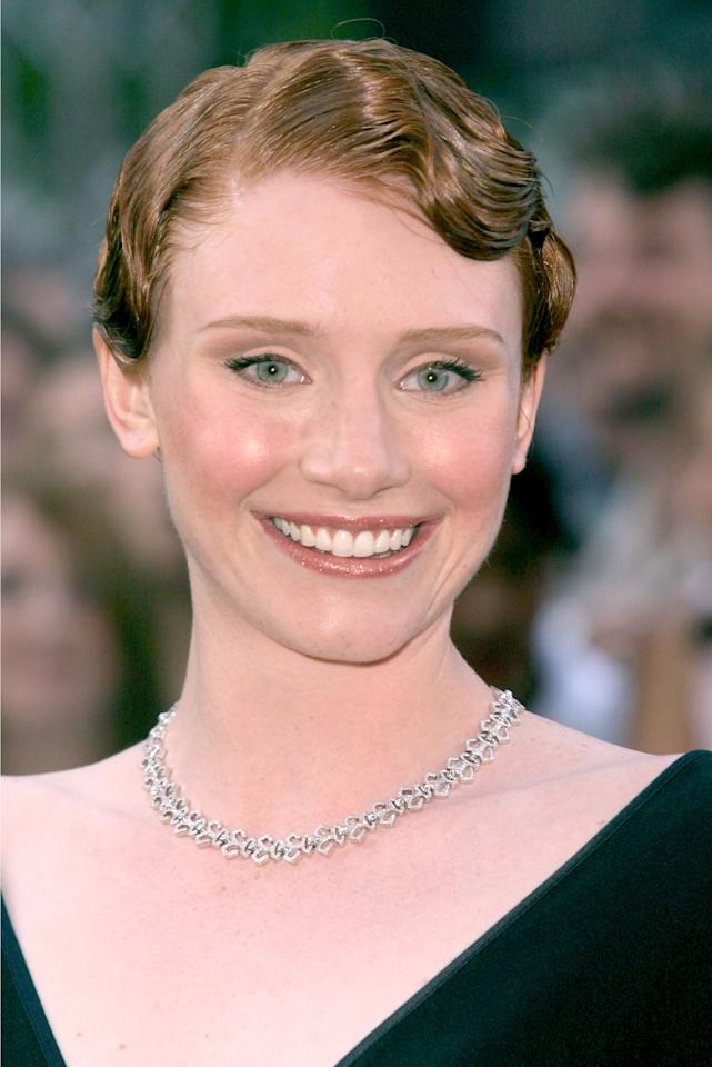 <p>At the London premiere of the movie, Howard wore her hair in finger waves.</p>