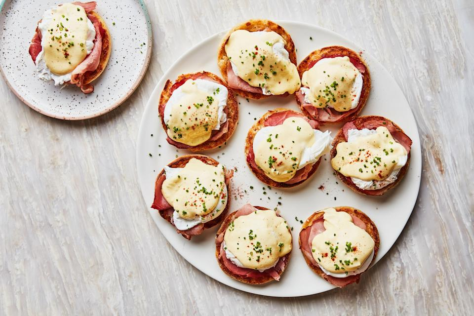 """<a href=""""https://www.bonappetit.com/recipe/eggs-benedict-for-a-crowd?mbid=synd_yahoo_rss"""" rel=""""nofollow noopener"""" target=""""_blank"""" data-ylk=""""slk:See recipe."""" class=""""link rapid-noclick-resp"""">See recipe.</a>"""