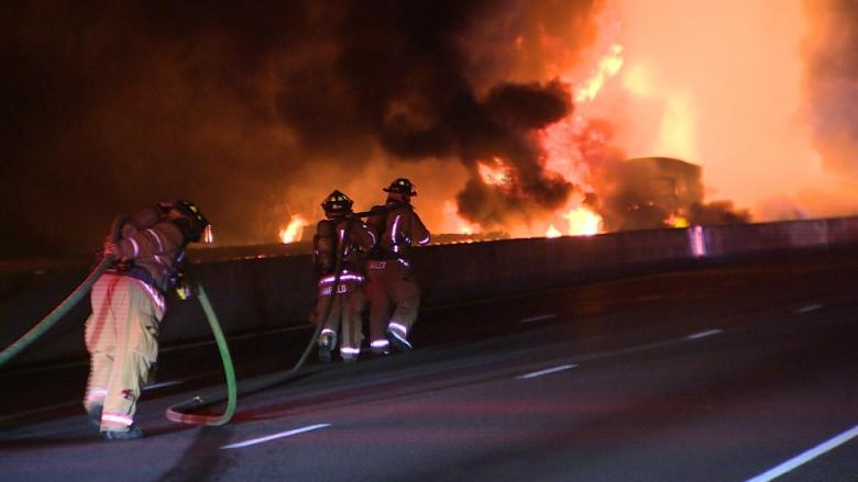North Bay man among three dead in fiery Highway 400 crash