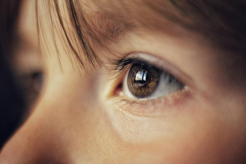 Close-Up Of Girl With Brown Eye