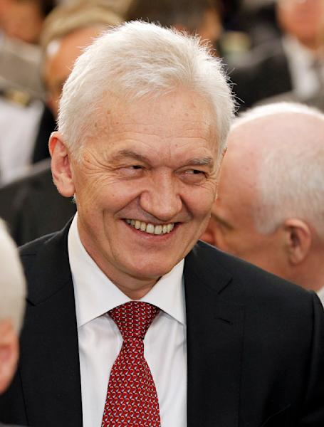 This April 30, 2013 photo, shows Russian businessman and billionaire Gennady Timchenko in St. Petersburg, Russia. U.S. President Barack Obama on Thursday, March 20, 2014 expanded U.S. economic sanctions against Moscow over its actions in Ukraine, targeting President Vladimir Putin's chief of staff and 19 other individuals as well as a Russian bank that provides them support. Those named in the sanctions Thursday include Timchenko, lifelong Putin friend whose company has amassed billions of dollars in government contracts. (AP Photo/Interpress, Alexander Nikolayev)
