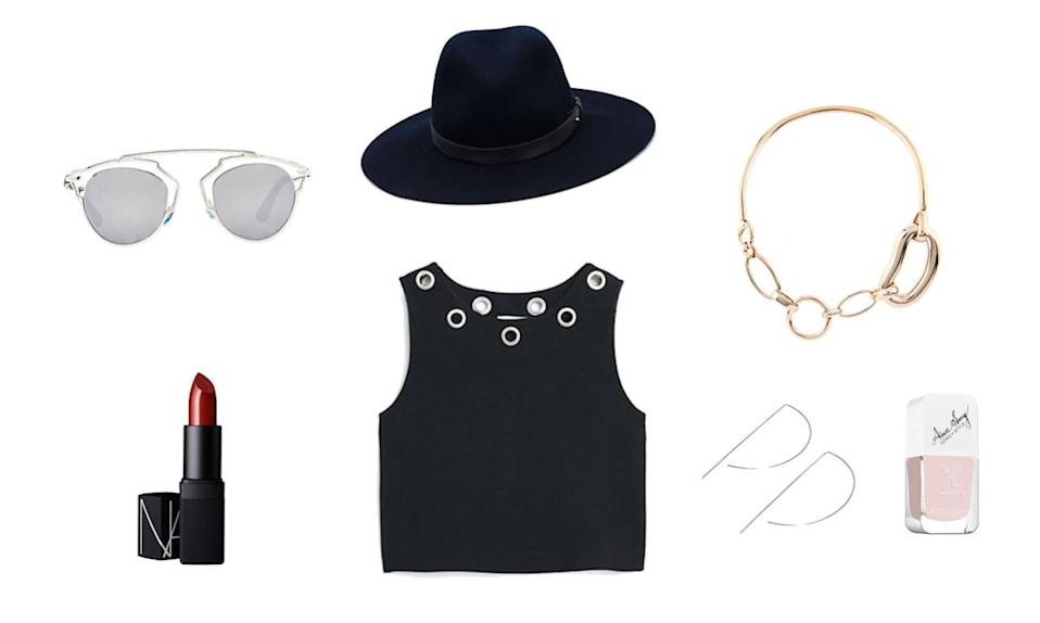 <p>Is your style your life? Save your simplistic Celine for fashion week, and instead, choose a trendy top with a detailed neckline and some delicate bling to show off your sartorial skill set. And when in doubt, go for a punchy matte red lip and a badass oversized fedora—both of exude total confidence. </p>
