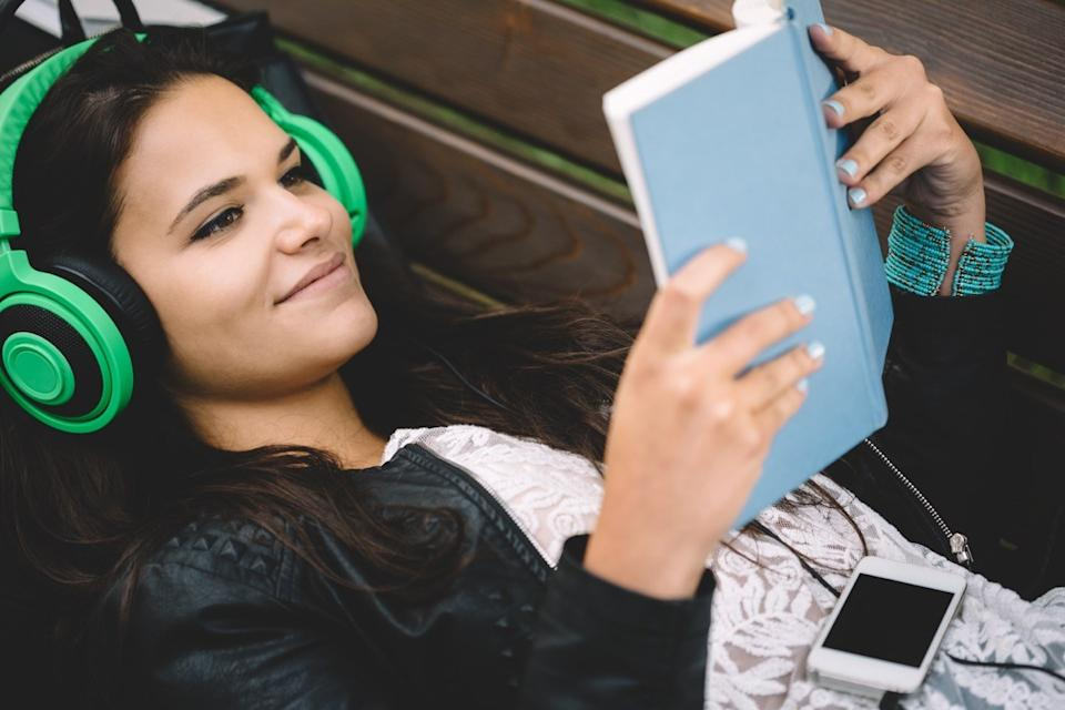 cool girl reading a book, slang words