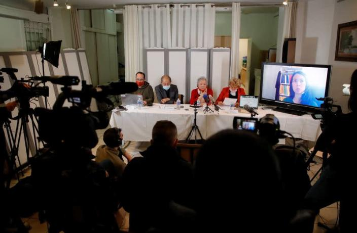 News conference with Tran To Nga suing multinational companies behind Agent Orange