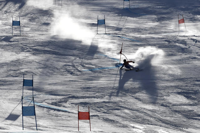 <p>Alexis Pinturault of France in action during the Alpine Skiing Men's Giant Slalom at Yongpyong Alpine Centre on February 18, 2018 in Pyeongchang-gun, South Korea. (Photo by Alain Grosclaude/Agence Zoom/Getty Images) </p>