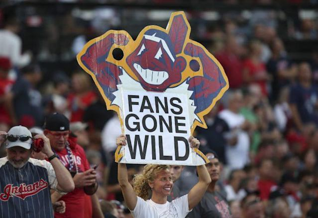 An activist believes Chief Wahoo and the Indians team name is discriminatory. (AP)