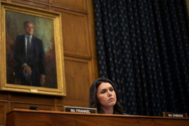 PHOTO: Rep. Tulsi Gabbard listens during a House Foreign Affairs Committee hearing on Capitol Hill in Washington, Sept. 26, 2018. (Drew Angerer/Getty Images, FILE)