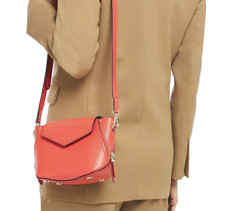 Michael Michael Kors Zip-detailed leather shoulder bag. (PHOTO: The Outnet)