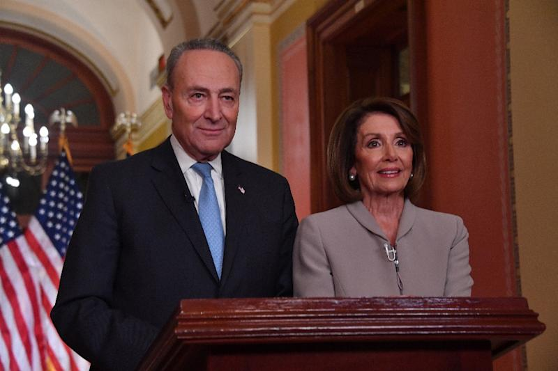 House Speaker Nancy Pelosi and Senate Democratic leader Chuck Schumer offered their party's rebuttal after US President Donald Trump's televised address to the nation on border wall funding