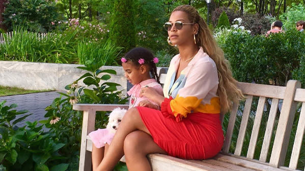Beyonce & Blue Ivy's Style In New York